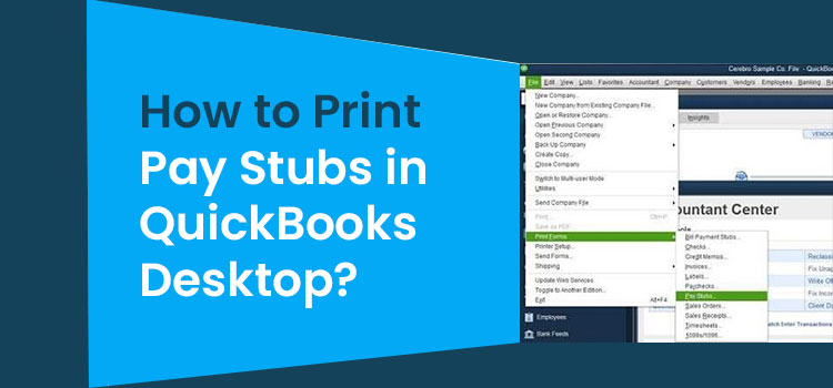 Print pay Stubs in Quickbooks