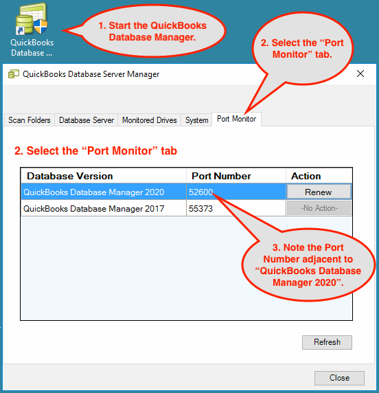 Dynamic Port Number to configure quickbooks 2017 firewall ports