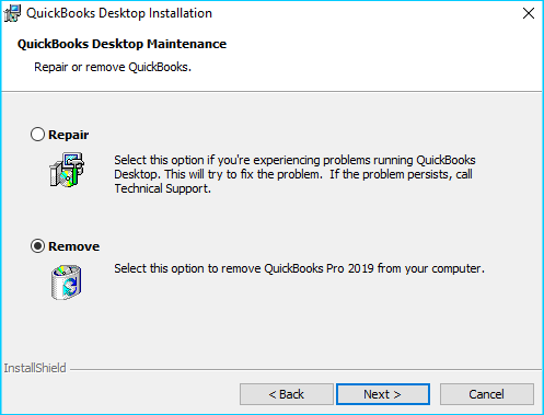 Uninstall the software To fix quickbooks printer not activated error code 20